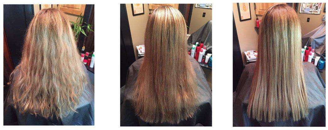 Diamentowa Odbudowa Włosów - Efekty terapii